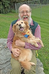 Don Hanson and Muppy the dog